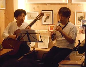 木管楽器のマルチリードエンターテイナーとコンテンポラリー系ギタリストによる生音ライヴ