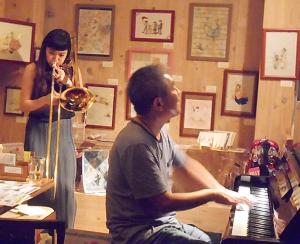 ジャズならではの若手トロンボーニストとヴェテランピアニストの共演ライヴ