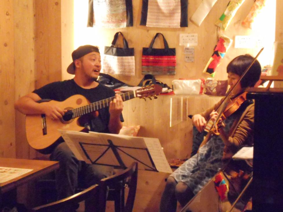 ヴァイオリンとギターのデュオによるブラジル音楽ライヴ