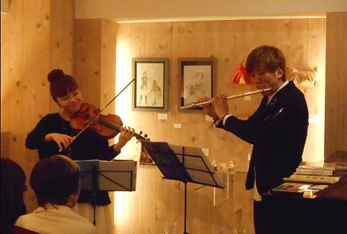 フルートとヴァイオリンのデュオによる大人も子供の心を取り戻すほんわかぽよよ~んなライヴ
